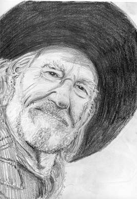 Willie Nelson Drawing - Willie by Will Stevenson