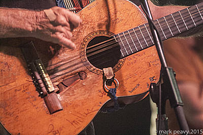 Photograph - Willie's Guitar by Mark Peavy