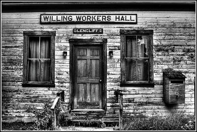 Photograph - Willing Workers Monochrome by Wayne King