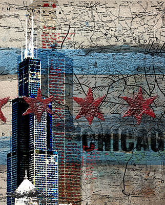 Liberty Painting - Willis Tower 208 2 by Mawra Tahreem