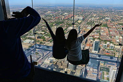 Photograph - Willis Tower Ledge - Chicago by Allen Beatty