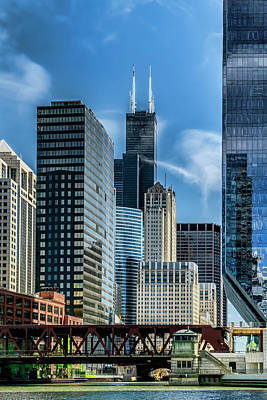 Photograph - Willis Tower, Skyline And Chicago River On A Sunny Day  by Sven Brogren