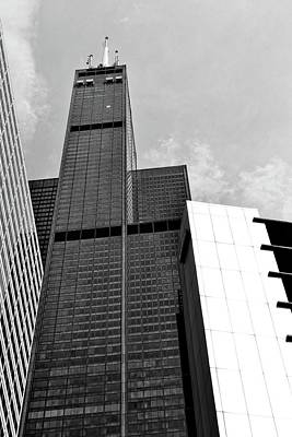 Photograph - Willis Tower Wedge by Michelle Calkins