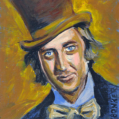 Wonka Painting - Willly Wonka by Buffalo Bonker