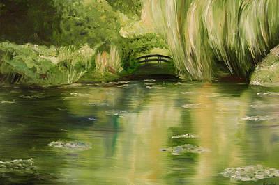 Willow At Monet Art Print by Lisa Konkol
