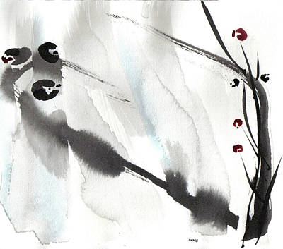 Painting - Willow Birds by Casey Shannon