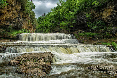 Photograph - Willow Falls Willow River State Park Hudson Wisconsin by Wayne Moran