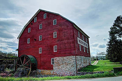 Photograph - Willow Grove Mill 1 by Lara Ellis