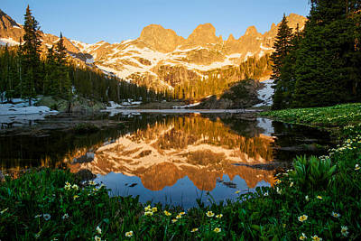 Gore Range Photograph - Willow Lake Sunrise by Aaron Spong