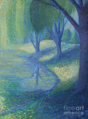 Walsh Painting - Willow Pond by Liesl Walsh
