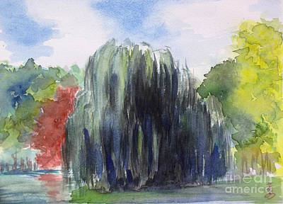 Willow Tree -2  Hidden Lake Gardens -tipton Michigan Art Print by Yoshiko Mishina
