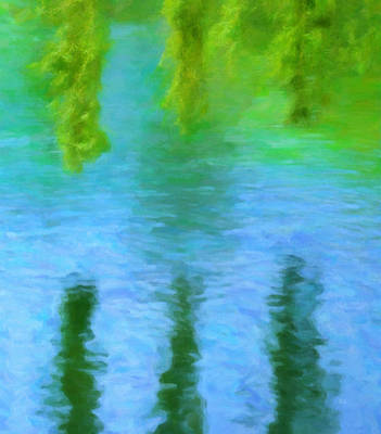 Painting - Willow Water by Menega Sabidussi