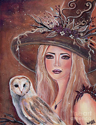 Willow Witch With Owl Original