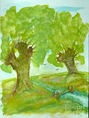 Meadow Willows Painting - Willows by Anna Folkartanna Maciejewska-Dyba