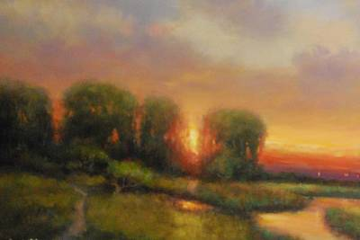 Painting - Willows by Richard Hinger