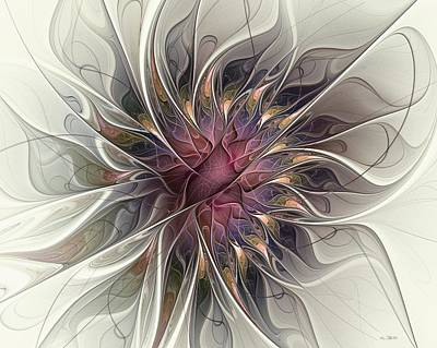 Art Print featuring the digital art Willowy Mum by Kim Redd