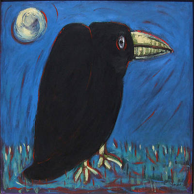 Painting - Will's Crow by Katt Yanda