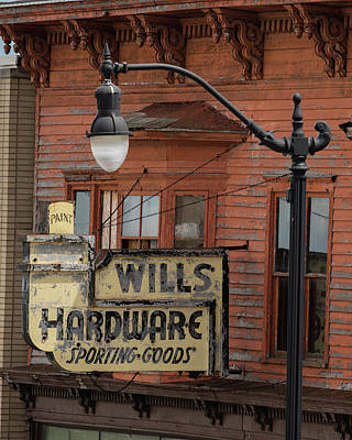 Photograph - Wills Hardware by William Christiansen