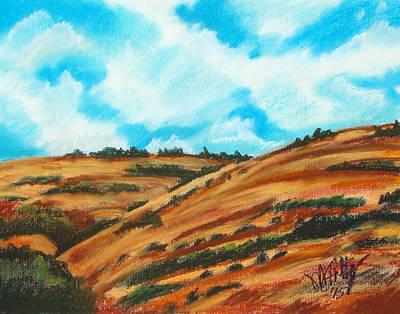 Pastel - Will's Hills by Michael Foltz