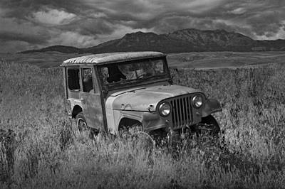Vandalize Photograph - Willy Jeep In Montana by Randall Nyhof