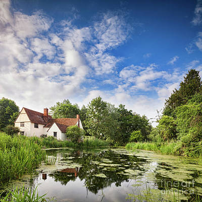 John Constable Photograph - Willy Lott's House Flatford Mill by Colin and Linda McKie