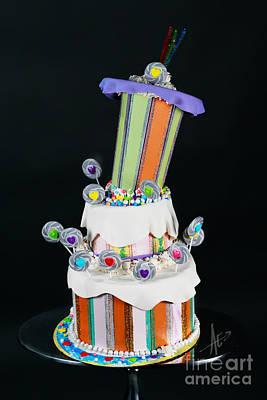 Photograph - Willy Wonka Cake by Afrodita Ellerman