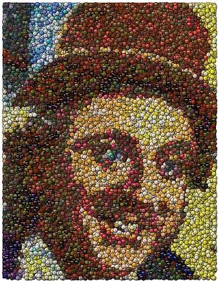 Mixed Media Royalty Free Images - Willy Wonka Fizzy Lifting Bottle Cap Mosaic Royalty-Free Image by Paul Van Scott