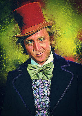 Candy Digital Art - Willy Wonka by Taylan Apukovska