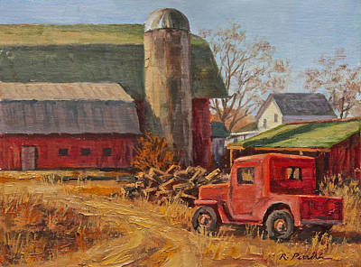 Willys Jeep At Work Art Print by Robert Perrish