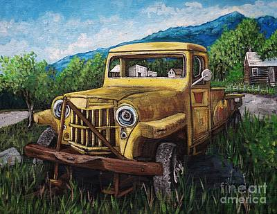 Painting - Willys Jeep Pick Up by Reb Frost