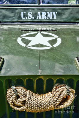 Photograph - Willys Jeep With The Original Winch by Paul Ward