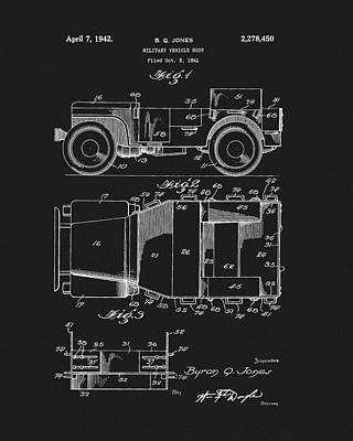 Drawing - Willy's Military Jeep Patent by Dan Sproul