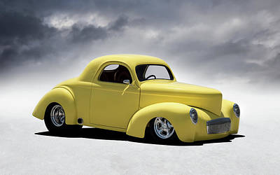 Digital Art - Willys Street Rod by Douglas Pittman