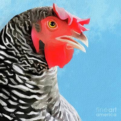 Painting - Wilma The Hen by Tammy Lee Bradley