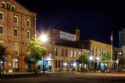 Photograph - Wilmington Cotton Exchange At Night by Greg Mimbs