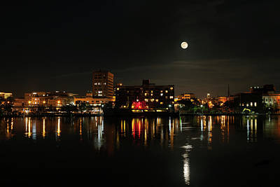 Photograph - Wilmington Nc At Night by Denis Lemay