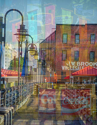 Digital Art - Wilmington North Carolina Riverfront by Mary Hahn Ward