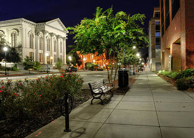Photograph - Wilmington Sidewalk At Night by Greg Mimbs
