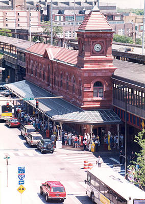 Photograph - Wilmington Train Station Clock Toweer by Emery Graham