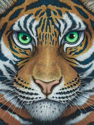 Painting - Wils Eyes Tiger Face by Tish Wynne