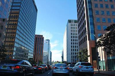 Photograph - Wilshire Blvd  - West La Traffic by Matt Harang