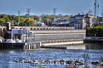 Wilson Dam Florence, Alabama Full View Print by Lesa Fine