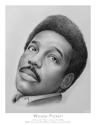 Rhythm And Blues Drawing - Wilson Pickett by Greg Joens