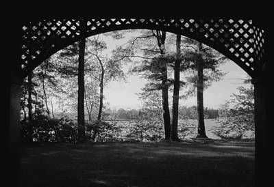 Photograph - Wilson Pond Framed In Black And White by MTBobbins Photography