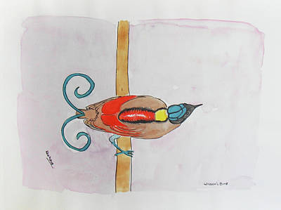 Painting - Wilson's Bird Of Paradise by Keshava Shukla