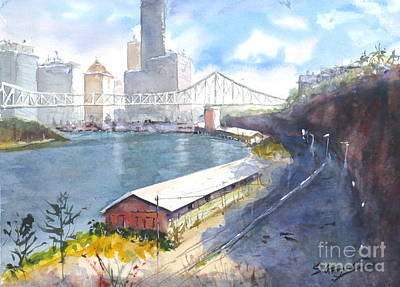 Painting - Wilson's Lookout Brisbane by Sof Georgiou