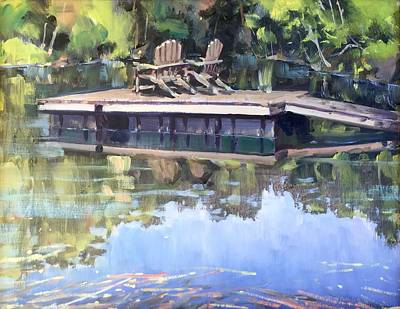 Painting - Wilson's Pond by Marty Coulter