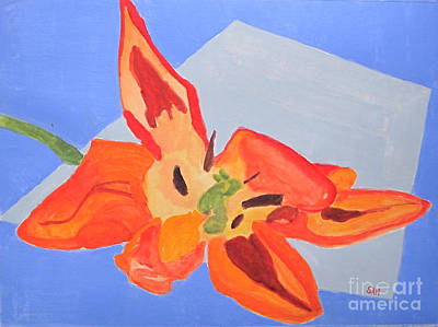 Painting - Wilted Tulip by Sandy McIntire