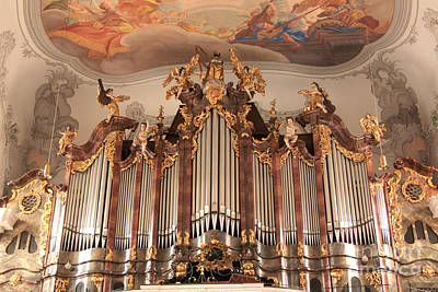 Photograph - Lindau Cathedral Organ by Frank Townsley