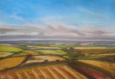 Drawing - Wiltshire Landscape 1 by Paul Mitchell